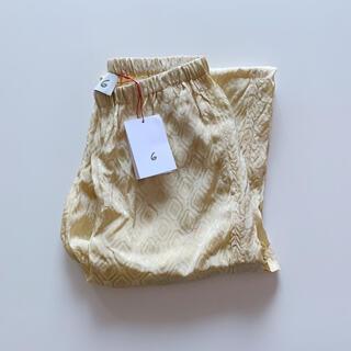 ビューティアンドユースユナイテッドアローズ(BEAUTY&YOUTH UNITED ARROWS)の《 新品タグ付 》6 roku ロク  サテンパンツ MOTIF PANTS(カジュアルパンツ)