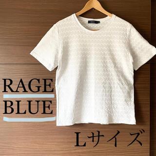 レイジブルー(RAGEBLUE)のRAGE BLUE  メンズ レイジブルー Tシャツ Lサイズ ギザギザ(Tシャツ/カットソー(半袖/袖なし))
