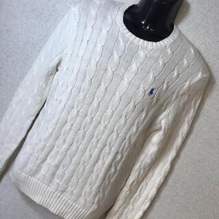 ポロラルフローレン(POLO RALPH LAUREN)のRALPH LAUREN ラルフローレン ロゴ刺繍 ニット セーター XS(ニット/セーター)