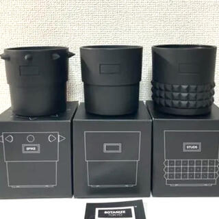 ネイバーフッド(NEIGHBORHOOD)の新品3個セット ステッカー付き BOTANIZE PLA POT BLACK(プランター)
