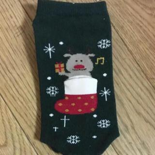 チュチュアンナ(tutuanna)の靴下 くるぶしソックス クリスマス トナカイ(ソックス)