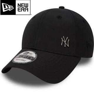 NEW ERA - ニューエラ キャップ NY ヤンキース 黒 ワンポイント メタル ロゴ ブラック