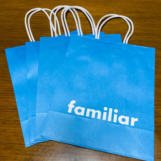 familiar - ファミリア ショッパー 紙袋 未使用 4枚