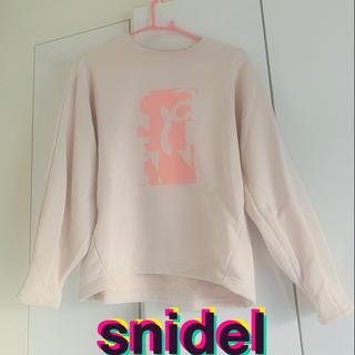 スナイデル(snidel)のここあ様限定★snidel ロゴスウェット(ピンク) トップス 長袖(トレーナー/スウェット)