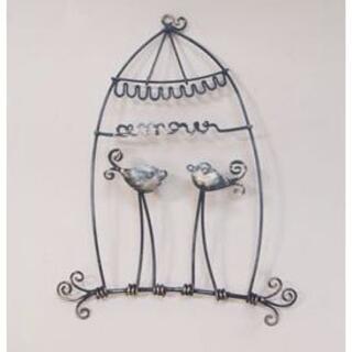 ウォールアクセント ワイヤーアート 壁掛け 壁飾り 鳥モチーフ(ウェルカムボード)