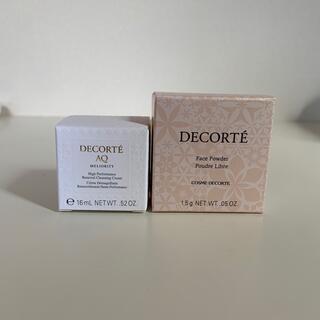 COSME DECORTE - コスメデコルテ AQ ミリオリティ クレンジングクリームn フェイスパウダー