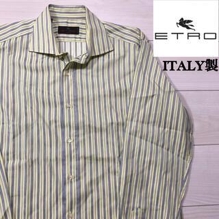 ETRO - ITALY製 ETRO 長袖 ストライプ ドレスシャツ エトロ イタリア 41