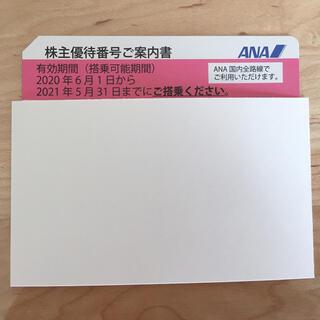 エーエヌエー(ゼンニッポンクウユ)(ANA(全日本空輸))のANA株主優待券 1枚 ※未使用ですが、登録用パスワード削っています(その他)