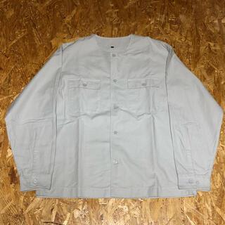MUJI (無印良品) - 無印良品 オックスノーカラーシャツ グレー