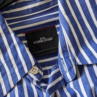 syu homme/femm 21ss ストライプシャツ 1
