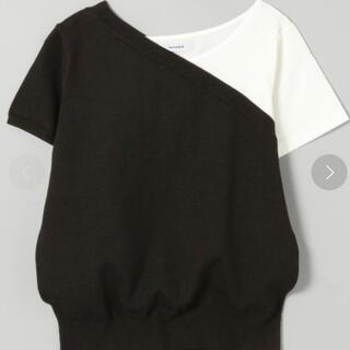 ジーナシス(JEANASIS)のワンショルドッキングサマーニット(Tシャツ(半袖/袖なし))