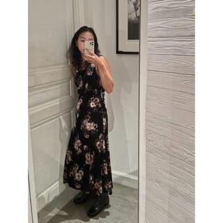 moussy - MOUSSY❤︎ VELVET FLOWER LONG DRESS