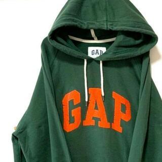 ギャップ(GAP)のギャップ GAP スウェットパーカー モスグリーン 緑色 L 古着(パーカー)