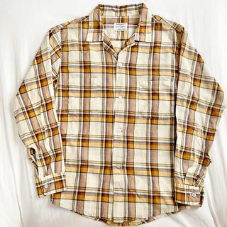 アロー(ARROW)の【60s】vintage towncraft オープンカラーシャツ チェック(シャツ)