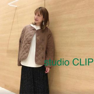 スタディオクリップ(STUDIO CLIP)のStudio clip ナチュラル中綿キルトブルゾンブ(ブルゾン)