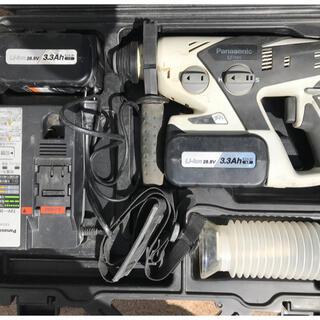パナソニック(Panasonic)のパナソニック 充電ハンマードリル (28.8V) 黒 EZ7880LZ2S-B(工具/メンテナンス)