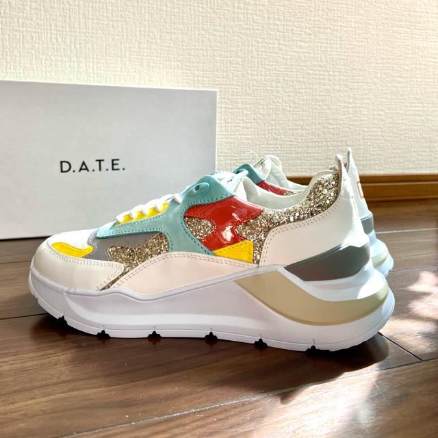 DEUXIEME CLASSE(ドゥーズィエムクラス)のD.A.T.E. FUGA デイト 24.5cm 日本未入荷 ダッドスニーカー レディースの靴/シューズ(スニーカー)の商品写真