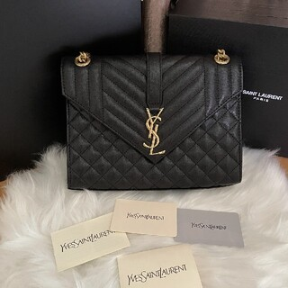 Yves Saint Laurent Beaute - YSL チェーンウォレット モノグラム エンボスレザー ショルダーバッグ