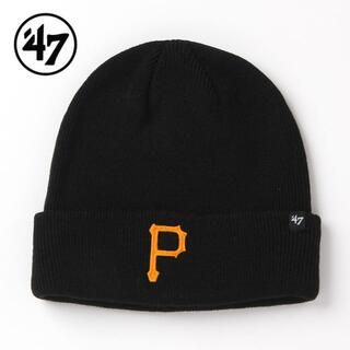 ニューエラー(NEW ERA)の【新品】47BRAND パイレーツ ニット帽 黒 ピッツバーグ(ニット帽/ビーニー)