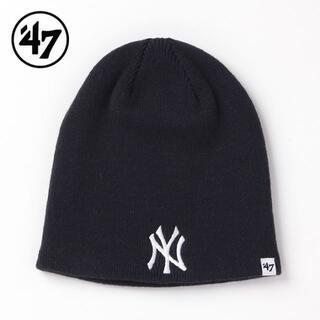 ニューエラー(NEW ERA)の【新品】47BRAND NY ヤンキース ニット帽 紺 ニューヨーク(ニット帽/ビーニー)
