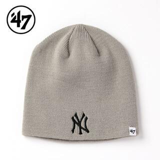 ニューエラー(NEW ERA)のbrown様【新品】47BRAND NY ニット帽 グレー 47 キャップ LA(ニット帽/ビーニー)