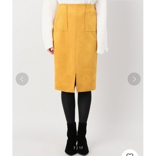 イエナ(IENA)のB.C STOCK フェイクスエードタイトスカート(ひざ丈スカート)