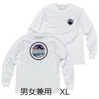 patagonia - パタゴニア 長袖 ロンT 白 XL 復刻版 アウトドア スキー スノボー