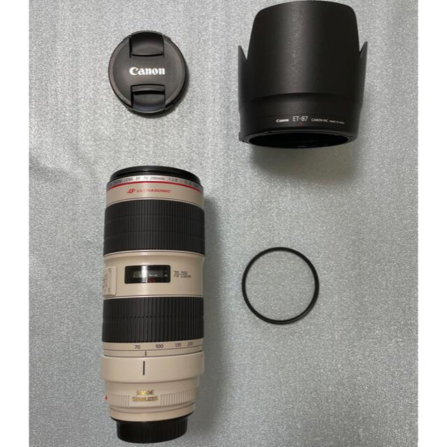 Canon(キヤノン)のcanon EF 70-200mm F2.8 L Ⅱ USM 美品 スマホ/家電/カメラのカメラ(レンズ(ズーム))の商品写真