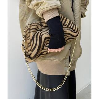 L'Appartement DEUXIEME CLASSE - AULENTTI  Zebra 2Way Clutch Bag キャメル