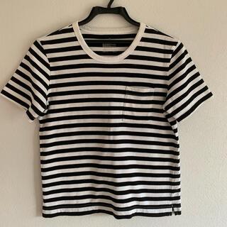 ムジルシリョウヒン(MUJI (無印良品))の無印良品 ボーダーTシャツ Sサイズ しっかり生地 送料無料(Tシャツ(半袖/袖なし))