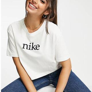 NIKE - 新品ナイキNIKE ロゴTシャツ ホワイト レディース ショート丈 ML