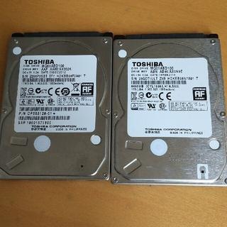 東芝 - 2個★1000GB1TB9.5mm厚2.5インチHDD③★プレステ系用に調整済