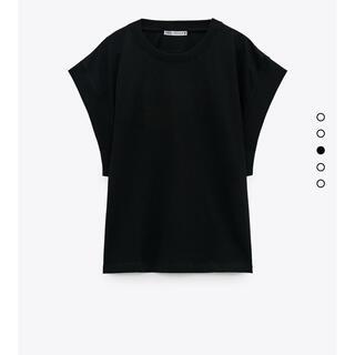 ZARA - リブ編みTシャツ ZARA ブラック