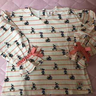 フタフタ(futafuta)の美品 futafuta ディズニー ミニーマウス リボン 120cm トップス(Tシャツ/カットソー)