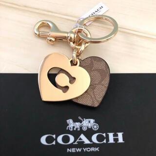 COACH - コーチ ロゴCハート シグネチャー バッグチャーム キーホルダー 新品 ブランド