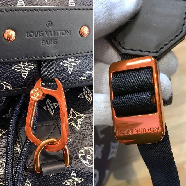 LOUIS VUITTON(ルイヴィトン)の新品同様 ルイヴィトン モノグラムインク バックパック リュックサック ネイビー メンズのバッグ(バッグパック/リュック)の商品写真
