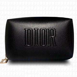 ディオール(Dior)のディオール クリスマス限定 ノベルティ スクエア ポーチ ブラック(ポーチ)