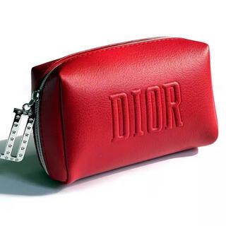 ディオール(Dior)のディオール ノベルティ スクエア ポーチ レッド(ポーチ)