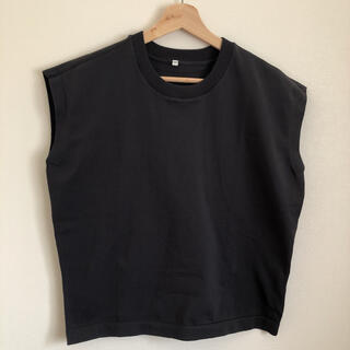 ムジルシリョウヒン(MUJI (無印良品))の無印良品  強撚スリーブレスニットTシャツ Mサイズ(Tシャツ(半袖/袖なし))