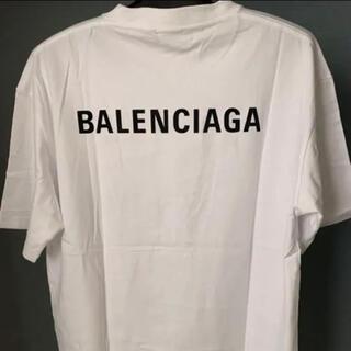 Balenciaga - バレンシアガ バッグロゴ 白 オーバーサイズ Sサイズ 美品 tシャツ tee