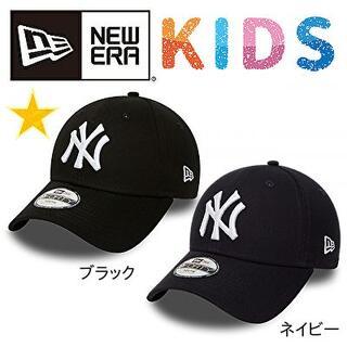 ニューエラー(NEW ERA)のNEW ERA ニューヨークヤンキース キャップ 9FORTY キッズ ブラック(帽子)