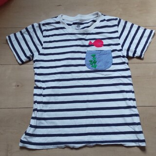 Design Tshirts Store graniph - 130 グラニフ きんぎょがにげた 半袖Tシャツ