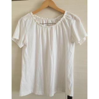 コーエン(coen)の■匿名配送■coen コーエン 襟元フリル Tシャツ 白 ホワイト 大人かわいい(Tシャツ(半袖/袖なし))