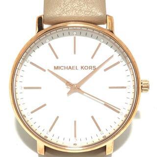 マイケルコース(Michael Kors)のマイケルコース 腕時計 - MK-2748 白(腕時計)