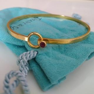 Tiffany & Co. - ティファニー バングル  k18 750  ブレスレット フックアイ