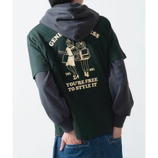 ウィゴー(WEGO)のWEGO ウィゴー 半袖 プリント Tシャツ ダークグリーン L(Tシャツ/カットソー(半袖/袖なし))