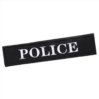 ワッペン ベルクロ/POLICE ブラック 黒 15/マジックテープ ミリタリー(その他)