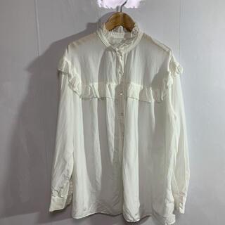 スピックアンドスパンノーブル(Spick and Span Noble)のspick & span 長袖シャツ M-L ホワイト 品番602(シャツ/ブラウス(長袖/七分))