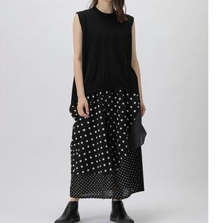 ズッカ(ZUCCa)のzucca 美品!ミックスドットスカート Mサイズ(ひざ丈スカート)