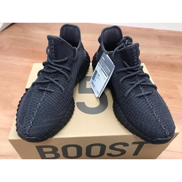 adidas(アディダス)のアディダス イージーブースト350 V2 ブラック 新品 送料込 値下げ可 メンズの靴/シューズ(スニーカー)の商品写真